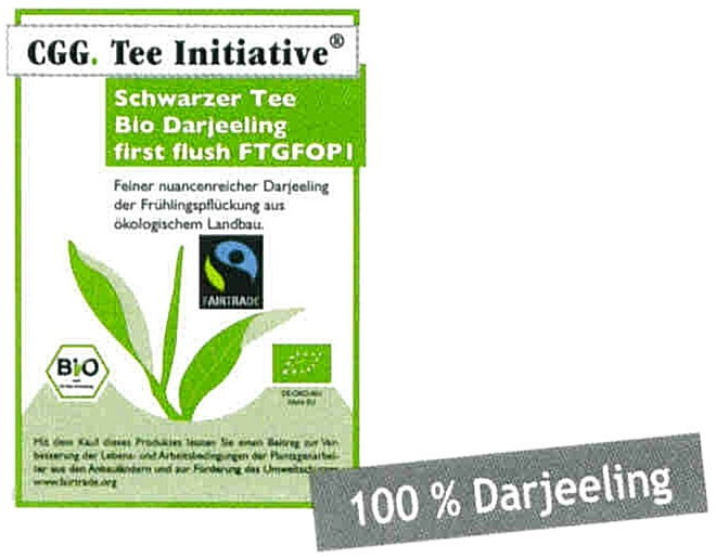 Darjeeling FTGFOP1  First Flush Tee-Initiative®,  schwarzer Tee